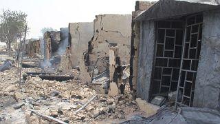صورة من الارشيف - متاجر أحرقت من قبل أعضاء مشتبه بهم في نيجيريا