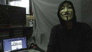 """Lynn Thant (pseudo), fondateur du journal clandestin """"Molotov"""" - capture d'écran d'une vidéo AFP du 10/04/2021"""