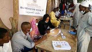Premier tour de l'élection présidentielle au Tchad, le 11 avril 2021.