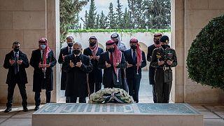 Ürdün Kralı 2. Abdullah Haşimi Kraliyet ailesinin anıt mezarını ziyaret etti
