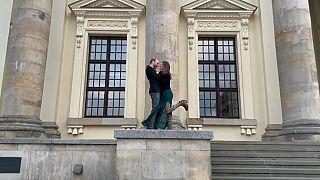 Palcoscenico nella Piazza del Mercato, a Berlino.