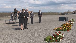 The German president remembers victims of Nazis at Buchenwald