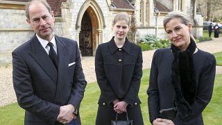 Prinz Edwards und seine Frau Sophie nach dem Gottesdienst auf Windsor Castle