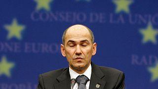 Janez Janša az uniós csúcson, 2008-ban