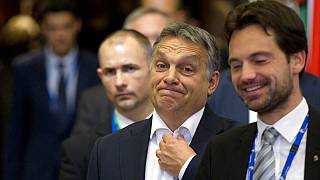 FILE: Hungarian Prime Minister Viktor Orban, after an EU summit in Brussels - Oct. 16, 2015.