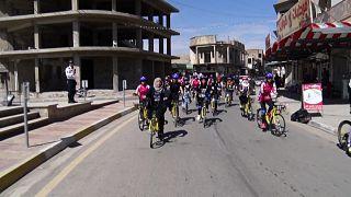 رالي الدراجات الهوائية للسيدات في الموصل - العراق