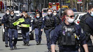 Polizei im 16. Arrondissement in Paris