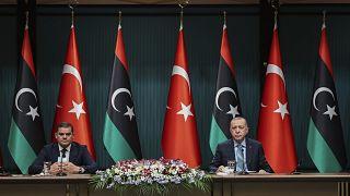 Oι ηγέτες Τουρκίας και Λιβύης