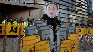 Japon hükümetinin kararına karşı eylem