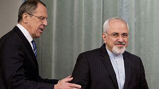 Rusya Dışişleri Bakanı Sergey Lavrov (sol), İran Dışişleri Bakanı Cevad Zarif