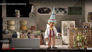 Video der Augburger Puppenkiste zum Corona-Selbsttest für Kinder