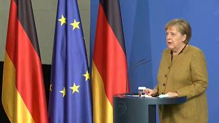 Chancellor Angela Merkel warns the situation in Germany remains critical
