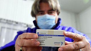 A box of Janssen vaccines