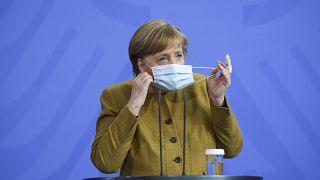 Angela Merkel an diesem Dienstag in Berlin