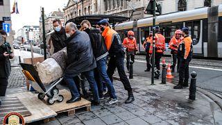 تمثال روماني في بروكسل. 2021/04/12