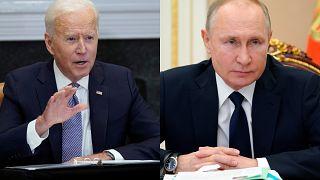 El presidente de Estados Unidos, Joe Biden y el presidente de Rusia, Vladímir Putin.