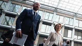 AB Konseyi Başkanı Charles Michel ile AB Komisyonu Başkanı Ursula von der Leyen