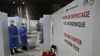 Testcenter am Flughafen Charles de Gaulle