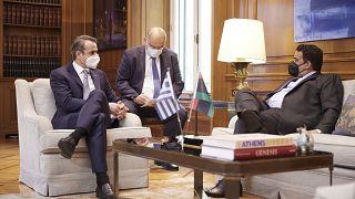 Συνάντηση του Πρωθυπουργού Κυριάκου Μητσοτάκη με τον Πρόεδρο του Προεδρικού Συμβουλίου της Λιβύης, Mohamed al-Menfi