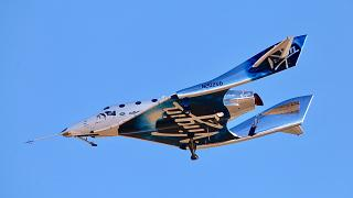 صورة من الارشيف - طائرة فيرجن غالاكتيك  تصل إلى الفضاء لأول مرة، هدفها إنزال الركاب في رحلات شبه مدارية