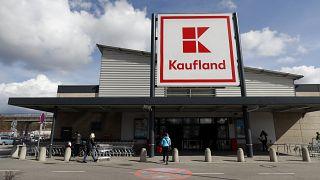 Customers outside a Kaufland supermarket store in Ceska Lipa.