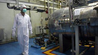 نمایی داخلی از تاسیسات هسته ای ایران