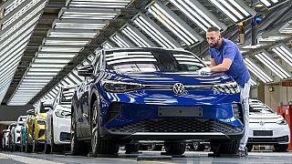 خط تولید خودروهای الکتریکی فولکسواگن در آلمان