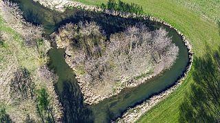 Kleine Insel in Aufhausen bei Regensburg