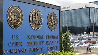 FILE - This June 6, 2013 file photo, shows the sign outside the National Security Agency (NSA) campus in Fort Meade, Md.