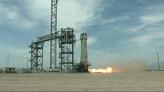 جف بزوس سفینه فضایی خود را از غرب تگزاس پرتاب کرد