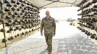Президент Азербайджана Ильхам Алиев на открытии Парка военных трофеев