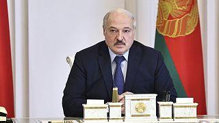 Alexandre Loukachenko, le président du Bélarus, le 29 mars 2021 à Minsk