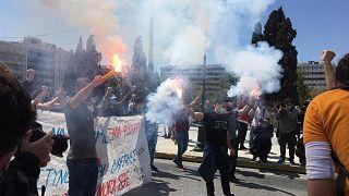Διαδηλωτές στην Αθήνα
