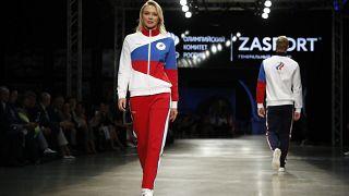 Презентация олимпийской формы (Москва, 14 апреля),