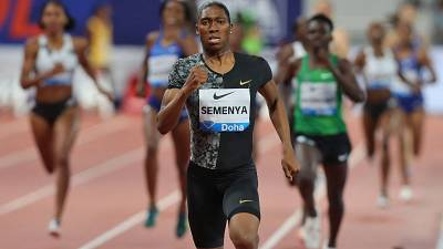 Semenya wins 5,000m, falls short of Olympic qualifying time