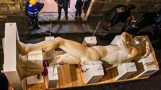 نسخة رقمية دقيقة ثلاثية الأبعاد تمثال مايكل أنجلو، ديفيد، لتمثيل إيطاليا في معرض دبي إكسبو 2021