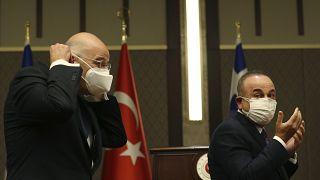 وزرای خارجه ترکیه و یونان در آنکارا