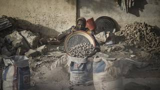 The Chadian women crushing gravel to make ends meet in dust and heat