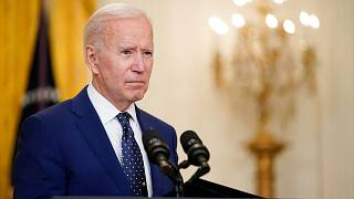 President Joe Biden speaks about Russia in the East Room of the White House, Thursday, April 15, 2021, in Washington.