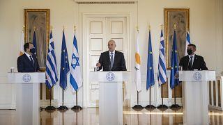 Φωτογραφία Αρχείου από την συνάντηση των ΥΠΕΞ Κύπρου, Ελλάδας, Ισραήλ