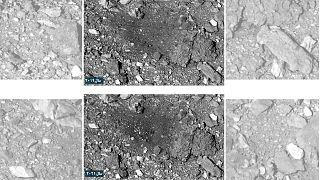 تصاویر از سطح سیارک بنو در سالهای ۲۰۱۹ و ۲۰۲۰