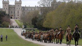 قلعة وندسور حيث تقام مراسم تشييع جنازة الأمير فيليب زوج الملكة إليزابيث الثانية