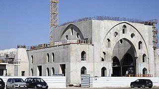 Strasburg'taki Eyup Sultan Cami inşaatı