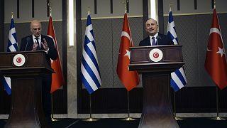 Yunanistan Dışişleri Bakanı Nikos Dendias, Türkiye Dışişleri Bakanı Mevlüt Çavuşoğlu