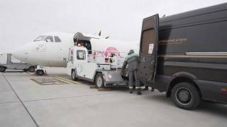 Van being loaded with vaccines - Kyiv - 16 April 2021