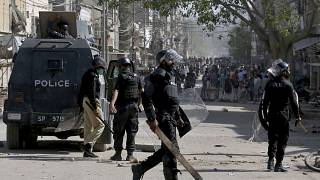 Police officers have clashed with supporters of the radical Islamist TLP political party for several days.