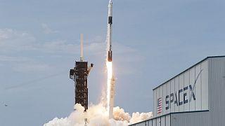 سبيس أكس ينطلق من مركز كينيدي للفضاء في كيب كانافرال في فلوريدا. 2020/05/30