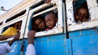 لاجئون فروا من المعارك الدائرة في إقليم تيغراي الإثيوبي 01/12/2020