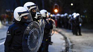 صورة من الارشيف - ضباط مكافحة الشغب، بلجيكا