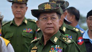Myanmar'da askeri darbenin ardından ülke yönetimini devralan Genelkurmay Başkanı General Min Aung Hlaing